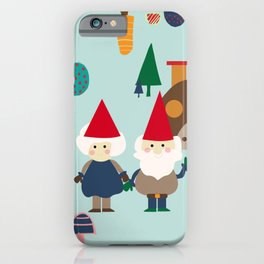 gnome blue iPhone Case