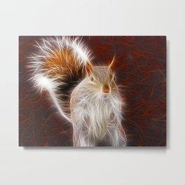 Fractalius Grey Squirrel Metal Print