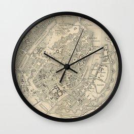 Vintage Map of Copenhagen Denmark (1886) Wall Clock