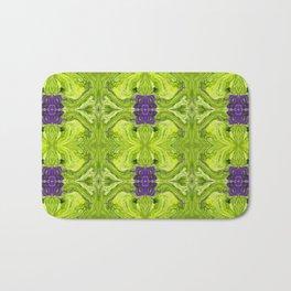 Acrylic Pour Pattern (Green/Purple) Bath Mat