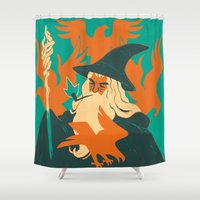 the hobbit Shower Curtains featuring The Hobbit by Greg Wright