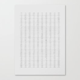 500 MINIMAL CARS Canvas Print