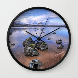 Rocking it on Rannoch Moor; Scottish highlands Wall Clock