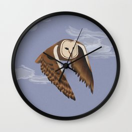 Owl at Dusk Wall Clock