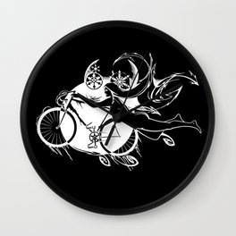Icicle Bicycle White Wall Clock