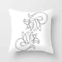 walk away - white Throw Pillow