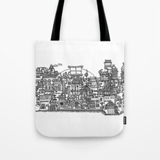 Busy City XI Tote Bag