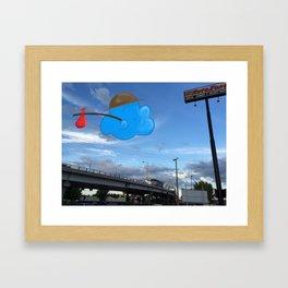 Traveler Cloud Framed Art Print