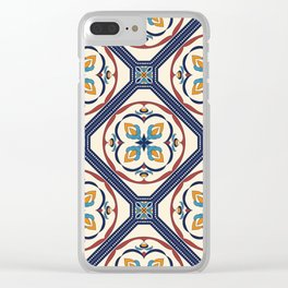 Beautiful Morocan decorative elements pattern Clear iPhone Case