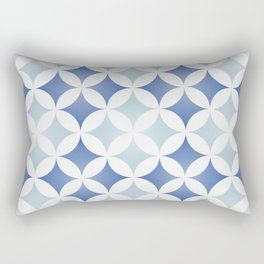 Geometric tile design inspired on traditional Portuguese tiles Rectangular Pillow