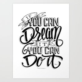 Quote - Walt 1 - Typedesign Art Print