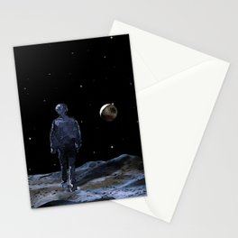 Walking on the Moon - Dark Art Stationery Cards