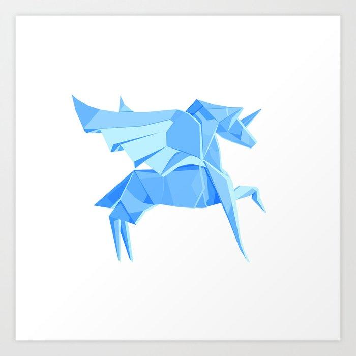 Origami Pegasus Art Print By Staskhabarov Society6
