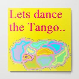 Lets Dance The Tango Metal Print