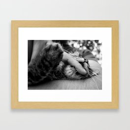 your finger is mine Framed Art Print