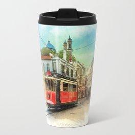 Old tram in Istanbul Travel Mug