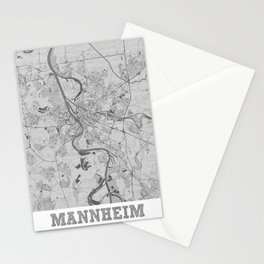Mannheim Pencil City Map Stationery Cards