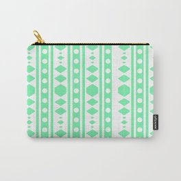 Mint Tribal Pattern Carry-All Pouch