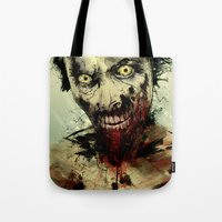 dead Tote Bags featuring UNDEAD by Fresh Doodle - JP Valderrama