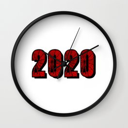 Awesome 2020-Spooky Spider Web Font Wall Clock