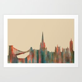 Bristol, UK Skyline - Navaho Art Print