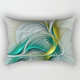 Fractal Evolution, Abstract Art Graphic Rectangular Pillow