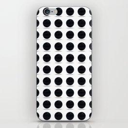 Black Polka Ball Pattern iPhone Skin
