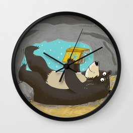 reading cave Wall Clock