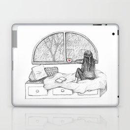 Rainy Day Window pencil illustration Laptop & iPad Skin