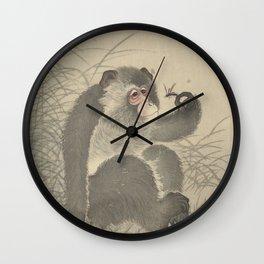 Monkey with insect - Ohara Koson (1900 - 1930) Wall Clock