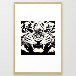 White Tiger Vector Framed Art Print