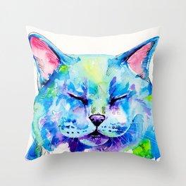 Fat Cat Throw Pillow
