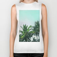 palm trees Biker Tanks featuring Palm Trees by Sweet Karalina
