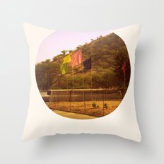 i think of you in colors that don't exist Throw Pillow