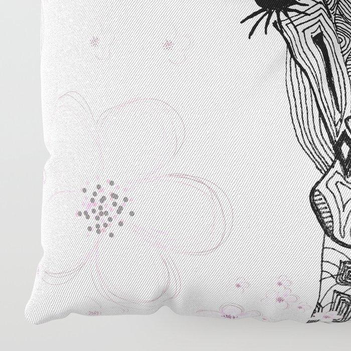 FLOWER GIRL GIRAFFE Floor Pillow