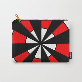optical pattern 64 Circle red and black Carry-All Pouch