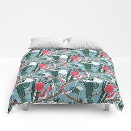 Hiding Birds Pink Comforters