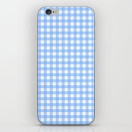 Sky Blue Gingham iPhone Skin