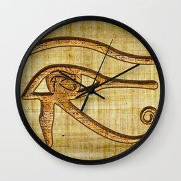 The Wadjet - Ancient Egyptian Eye of Horus Wall Clock