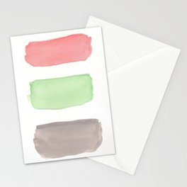 Coral Mint Grey Block Stationery Cards