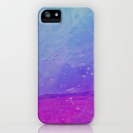 Abstract - blue and pink - iPhone Case