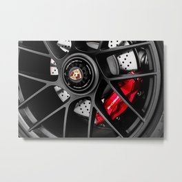 911 Porsch Wheel Metal Print