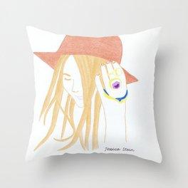 Jessica Stein Throw Pillow