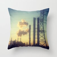 industrial Throw Pillows featuring Industrial  by Mazin_isa