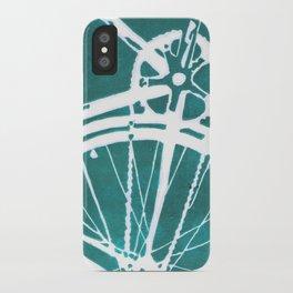 Teal Bike iPhone Case