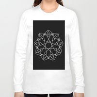 sacred geometry Long Sleeve T-shirts featuring Sacred Geometry Print 2 by poindexterity