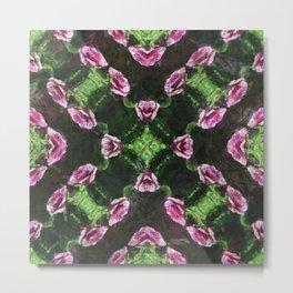 Rosas Moradas 2 Kaleidoscope 14 Metal Print
