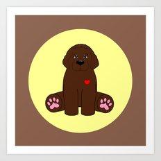Stuffed Brown Dog Art Print