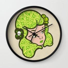 Girl Power Moon Child Wall Clock
