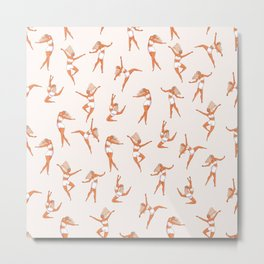 Dance Girl Pattern 002 Metal Print